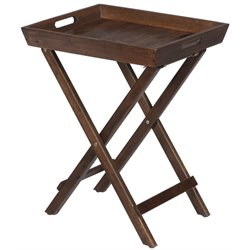 Bowery Hill Folding Tray End Table in Brown