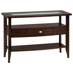 Bowery Hill Contemporary Console Table in Merlot