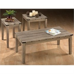 Bowery Hill 3 Piece Coffee Table Set in Oak