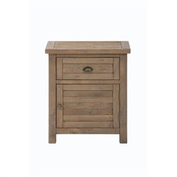 MER-1374 Bowery Hill Nightstand in Dark Wood