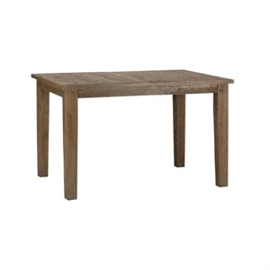 Bowery Hill Pine Wood Counter Height Dining Table in Brown