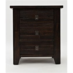 Bowery Hill 3 Draawer Nightstand in Chocolate