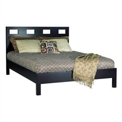 Bowery Hill Modern Low Profile Platform Bed in Espresso 7122 -1397