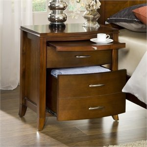 Bowery Hill 2 Drawer Nightstand in Cinnamon