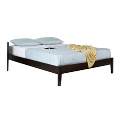 Bowery Hill Simple Platform Bed in Espresso 369839 -1397