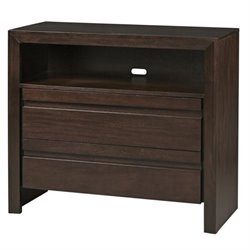 Bowery Hill Media Chest in Chocolate Brown