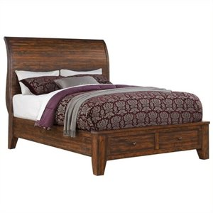 Bowery Hill Storage Bed in Antique Mocha 491407 -1397