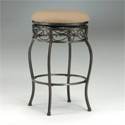 Bowery Hill Backless Swivel Bar Stool in Black Gold -1397