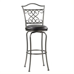 Bowery Hill Swivel Bar Stool in Dark Pewter -1397