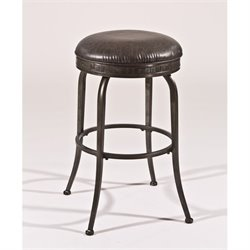 Bowery Hill Swivel Bar Stool in Weathered Pewter -1397