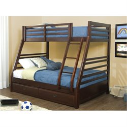 Bowery Hill Twin Over Full Bunk Bed in Mission Oak -1397