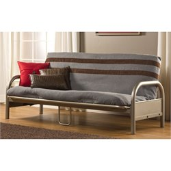 Bowery Hill Full Futon Frame in Pewter