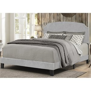 Bowery Hill Upholstered Panel Bed in Glacier Gray B -1397