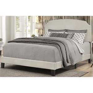 Bowery Hill Upholstered Panel Bed in Fog B -1397