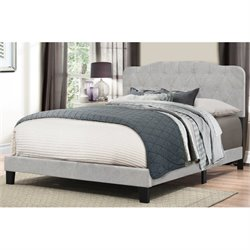 Bowery Hill Upholstered Panel Bed in Glacier Gray -1397