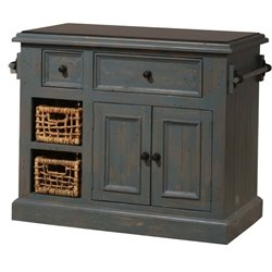 Bowery Hill Kitchen Island in Nordic Blue