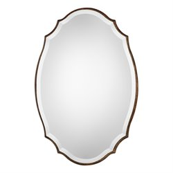 Bowery Hill Taelyn Oval Mirror in Gold Leaf