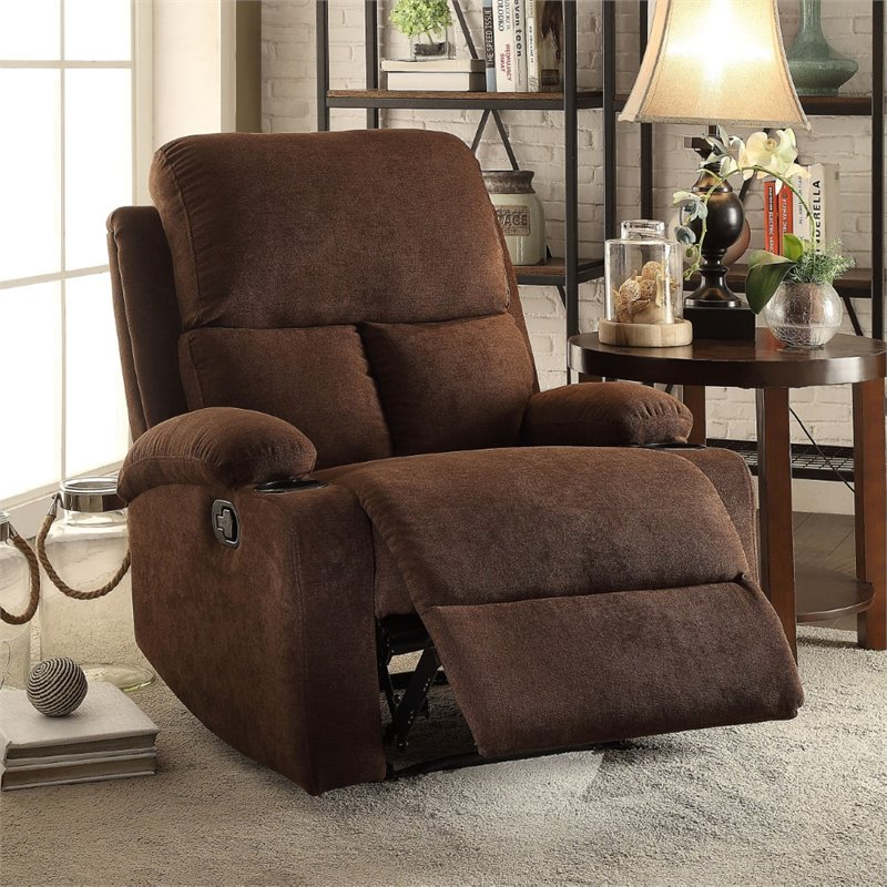 recliner in chocolate