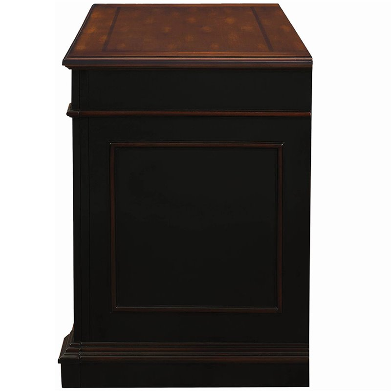 Bowery Hill 2 Drawer Lateral File Cabinet in Black and Chestnut