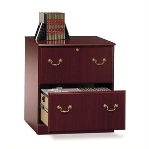 Pemberly Row Executive 2 Drawer Lateral File Cabinet in Cherry