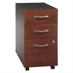 Pemberly Row 3Dwr Mobile Pedestal in Hansen Cherry