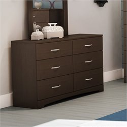 Pemberly Row Double Dresser in Dark Chocolate