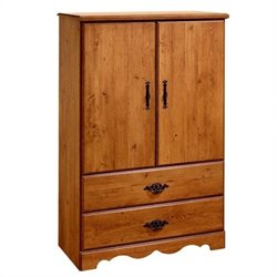 Pemberly Row Country Pine Armoire