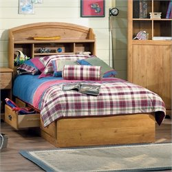 Pemberly Row Twin Mates Bed in Country Pine