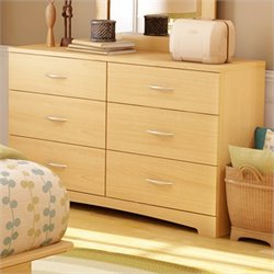 Pemberly Row Double Dresser in Natural Maple