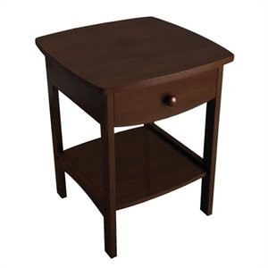 Pemberly Row End Table Nightstand in Antique Walnut