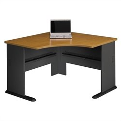 Pemberly Row 48W Corner Desk in Natural Cherry