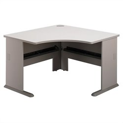 Pemberly Row 48W Corner Desk in Pewter