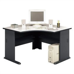 Pemberly Row 48W Corner Desk in Slate