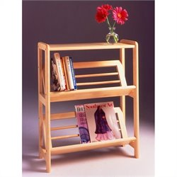 Pemberly Row 2-Tier Bookshelf in Natural
