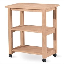Pemberly Row Microwave Kitchen Cart