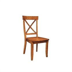 Pemberly Row Dining Chair in Oak Finish (Set of 2)