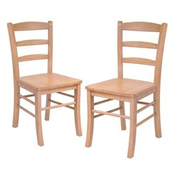 Pemberly Row  Dining Chair in Light Oak Finish (Set of 2)