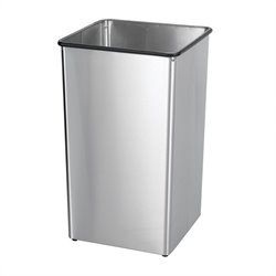 Pemberly Row Stainless Steel 36 Gallon Receptacle Base