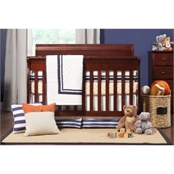 Pemberly Row 4-in-1 Convertible Baby Crib with Toddler Rail in Cherry