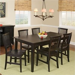 Pemberly Row 7 Piece Dining Set in Ebony