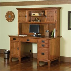 Pemberly Row Computer Desk with Hutch
