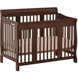 Pemberly Row 4-in-1 Stages Baby Crib in Espresso