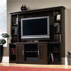 Pemberly Row Large Entertainment Center in Cinnamon Cherry