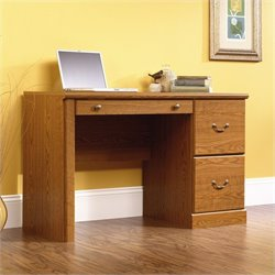 Pemberly Row Wood Computer Desk in Carolina Oak finish
