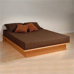 Pemberly Row Oak Queen Platform Bed