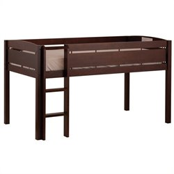 Pemberly Row Junior Loft Bunk Bed in Espresso