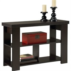 Pemberly Row Wood Sofa Table in Black Forest