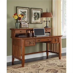 Pemberly Row Executive Computer Desk with Hutch