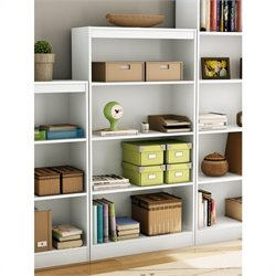 Pemberly Row 4 Shelf Bookcase in Pure White