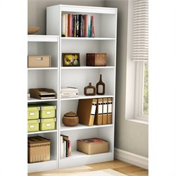 Pemberly Row 5 Shelf Bookcase in Pure White